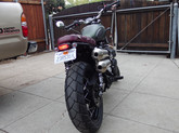 bench seat Street Scrambler fitted with Street Cup tail tidy
