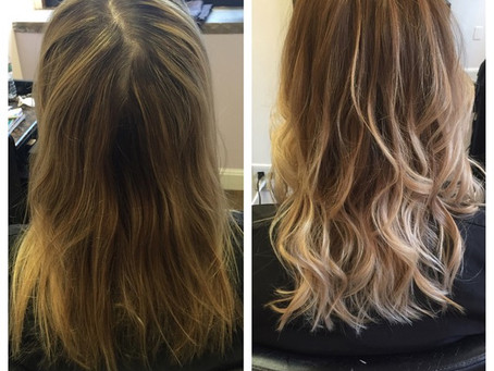 Before & After Ombré