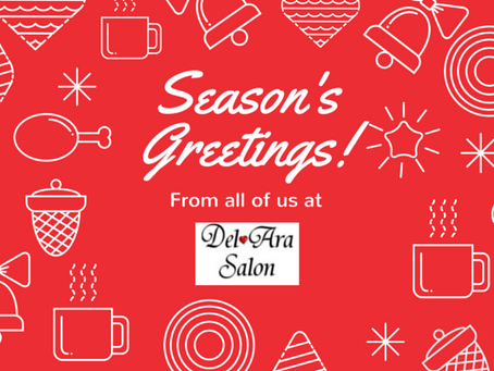 Happy Holidays 2014 from Del Ara Salon!