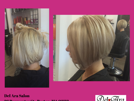 Gorgeous Blond and Bob Cut!