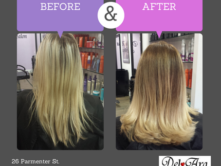 From Drab to Fab -- Ombre Before and After