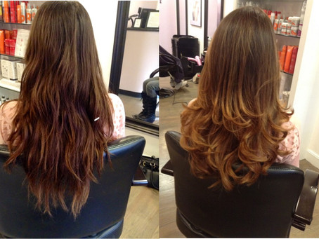 Ombre by Shaida, Before and After