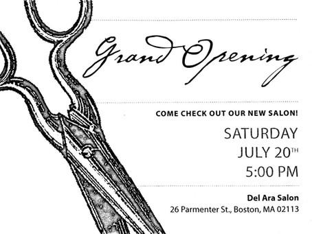 Delara Salon Grand Opening, Saturday, July 20, 5 p.m.