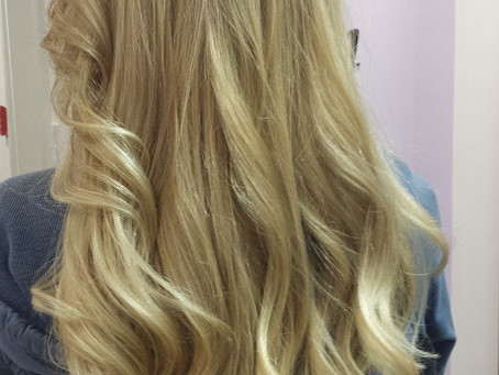 Beautiful, natural blonde color created without using bleach