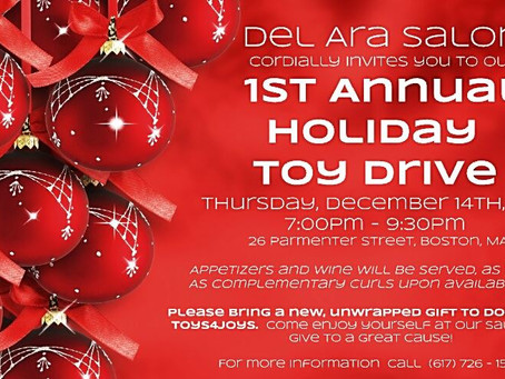 Join us for our First Annual Toy Drive, December 17, 2017!