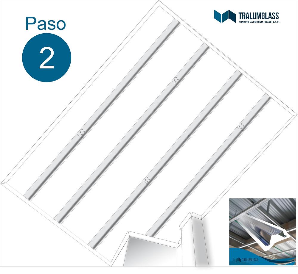 Instructivo de instalación de omegas para cielo falso en PVC