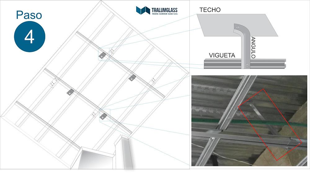 Instructivo de instalación de angulos para techo en PVC