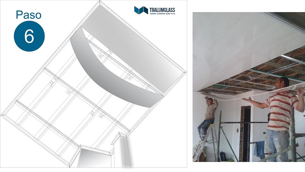 Instructivo de instalación de laminas para cielo falso en PVC