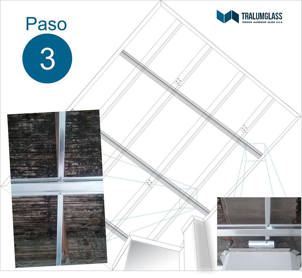 Instructivo de instalación de viguetas para cielo raso en PVC
