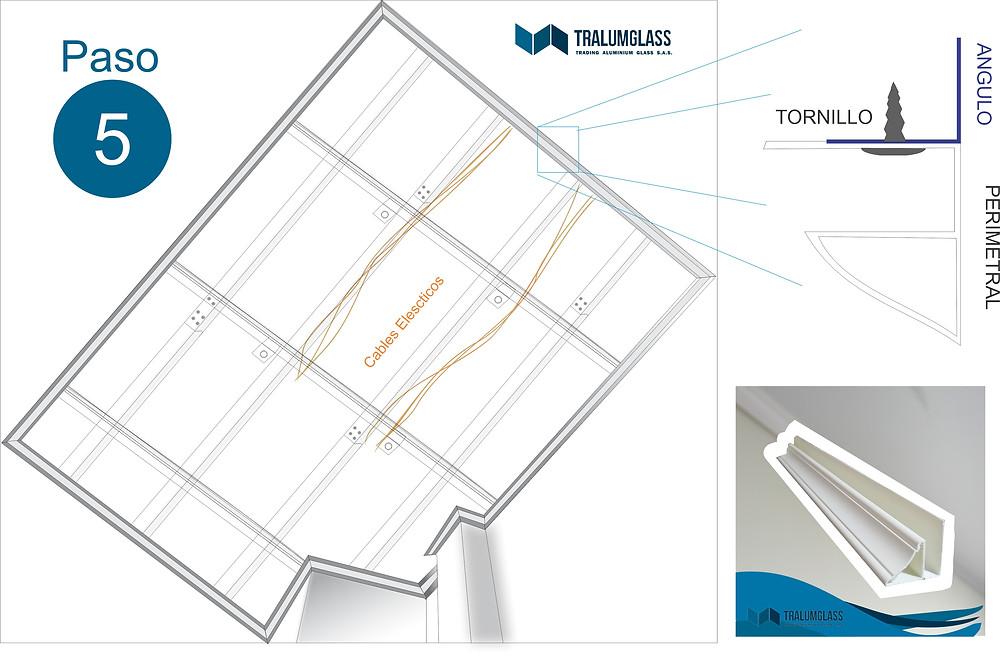 Instructivo de instalación de perimetrales para techo falso en PVC