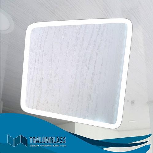 Madera Blanca Cielo raso en PVC