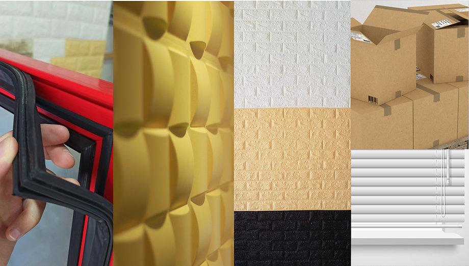 portada tralumglass empaques de nevera, paredes en 3D paredes adhesivas, cajas de carton y blackouts