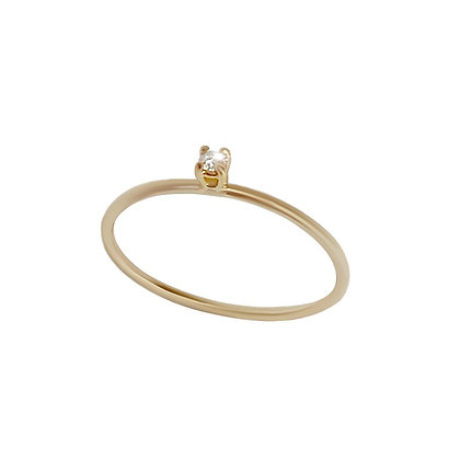 """Mini solitaire"" ring"