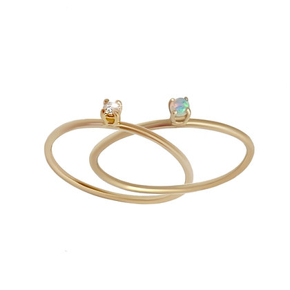 """""""Dots of light"""" inseparable ring"""