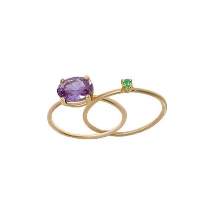 """Purple Calla Lily "" inseparable ring"