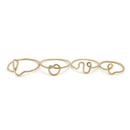 """""""LOVE"""" - ring set."""