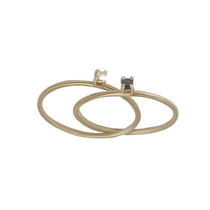 """Yin Yang"" inseparable ring"