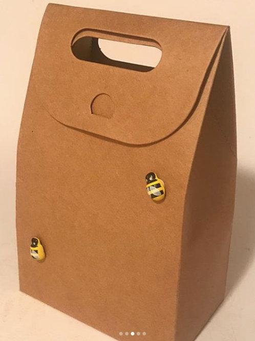 Medium Eco gift box- beeswax soap and lip balm