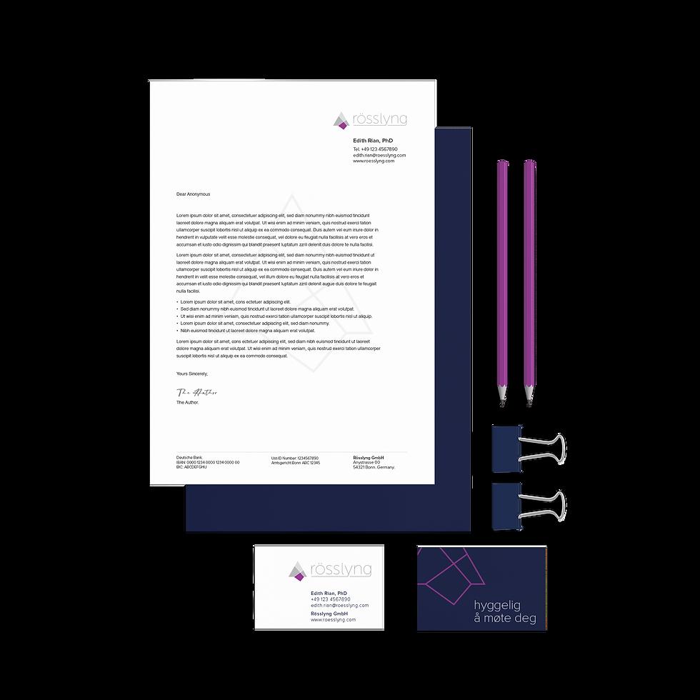 Brand design for Rösslyng by Janet Hannah Design