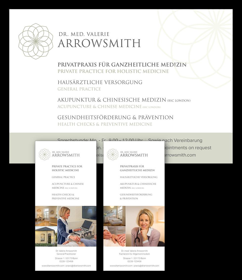 Print design for Dr. Arrowsmith by Janet Hannah Design