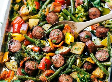 Sheet Pan Italian Turkey Sausage and Veggies