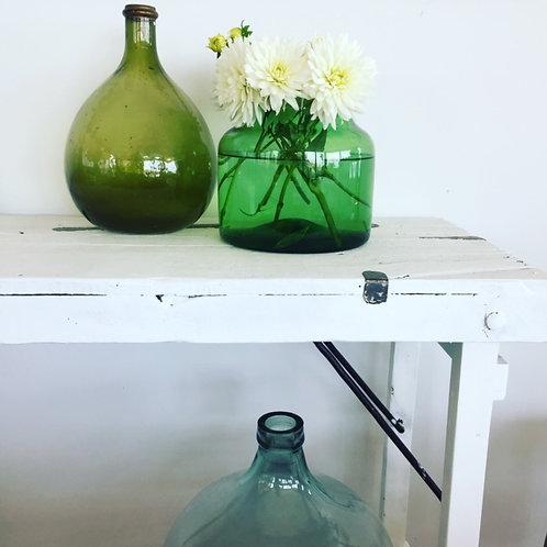 Glasvase grün vintage