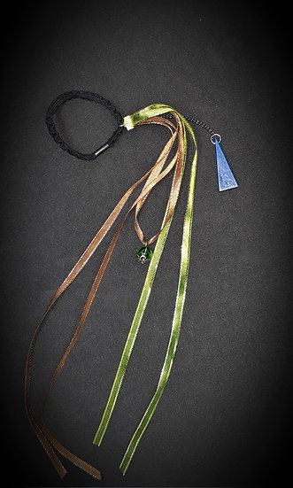élastique cheveux original en rubans et perles