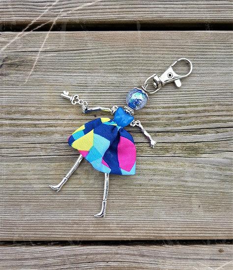 porte clés poupée bijoux design
