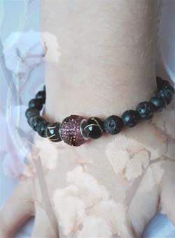 bracelet mixte en perles lave