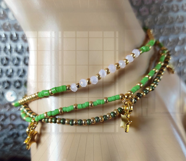 bracelet en fines perles Miyuki