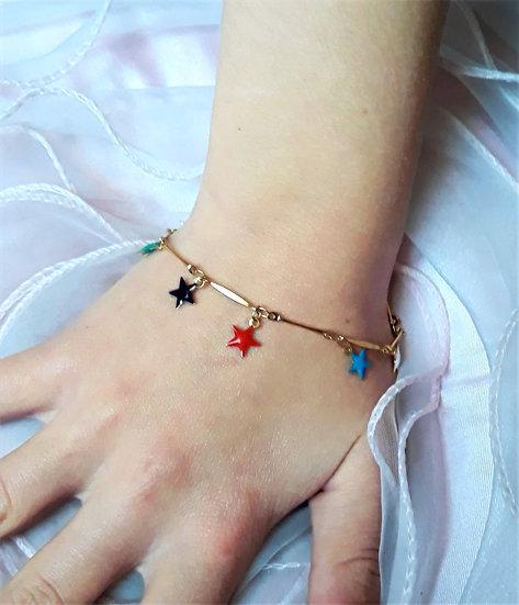 bracelet or etoiles