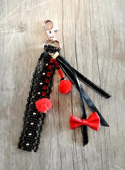 porte clés bijoux des sacs rubans et dentelles