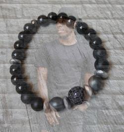 bracelet homme perles naturelles