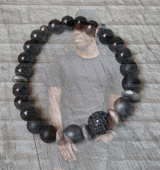 bracelet homme noir
