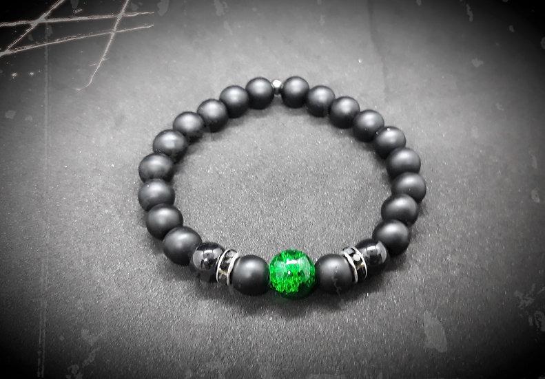 bracelet homme en perles noir