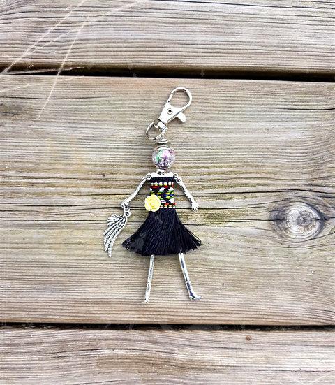 porte clés poupée bijoux