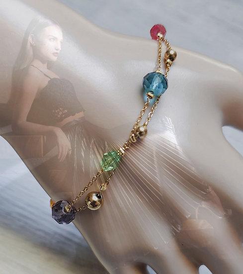 bracelet chainette or double rang
