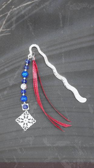 marque pages original rubans et perles cristal et estampe