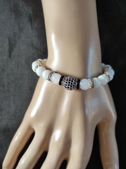bracelet perles et zircon
