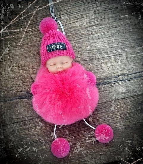 porte clés original peluche bébé rose