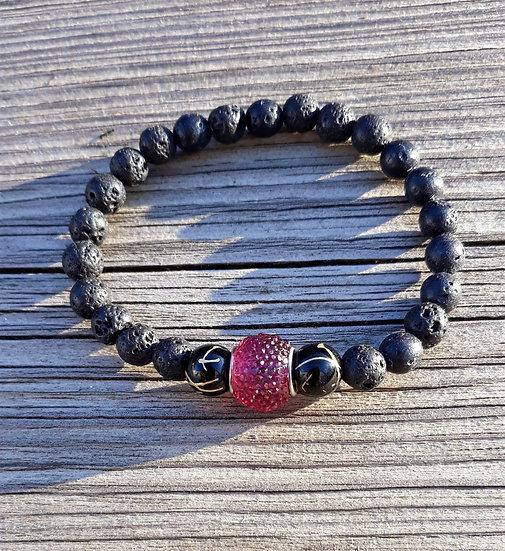 bracelet en perles de lave