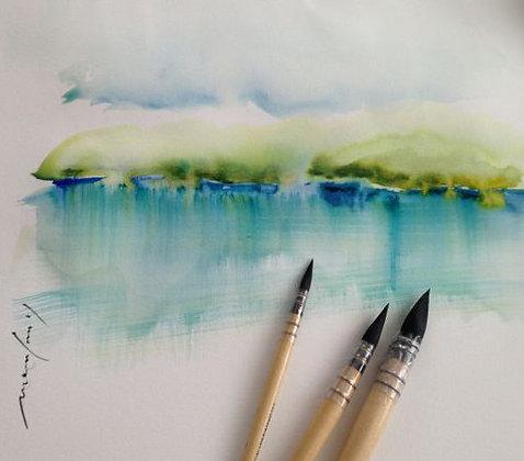 Aquarelle débutant par Marie-France Roy (mardi 13h à 16h)