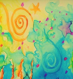 Peinture parents-enfants, 12 août, par Juan Gomez