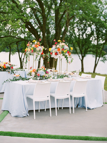 Outdoor reception by the lake