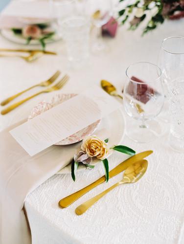 Heroncrest wedding table setting