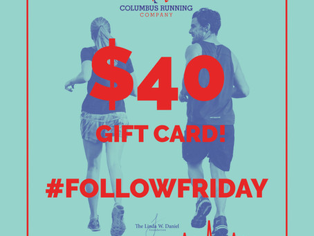 Follow Friday Giveaway: Columbus Running Company