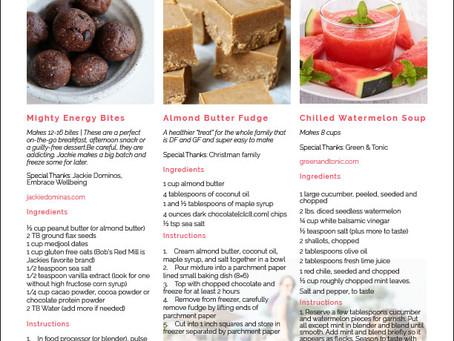 Kicking Cancer Recipes