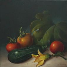 Tomate und Zucchini