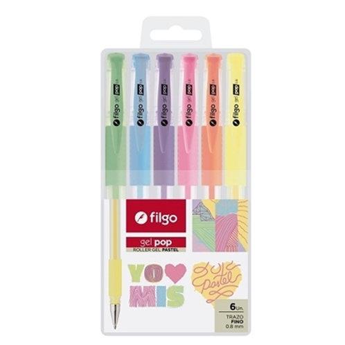 Roller Gel Pop Filgo Pastel x6