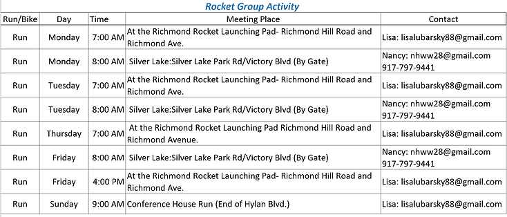Richmond Rockets Fun Runs - Updated 12.2